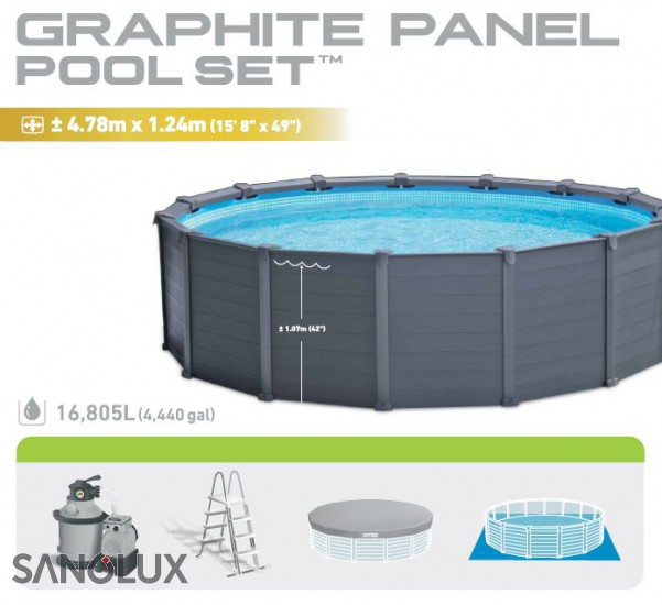 INTEX Wood Frme Pool