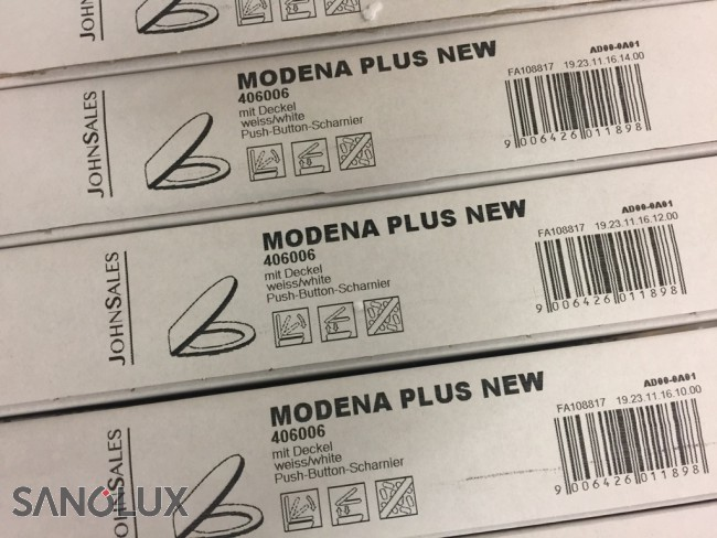 WC-Sitz Modena Plus (zu WC Laufen Moderna), mit Absenkautomatik ...