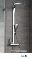 Duschpaneel AquaTray Thermostat mit Schwall