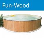 FunWood Aufstell Stahlwand-Rundschwimmbecken Set 500x120cm