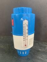Dosierschwimmer mit Sicherheitssperre und Thermometer