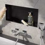 Wandeinbaubox Duschnische - cleverer Stauraum 600x300mm schwarz