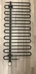 Sanolux Badheizkörper S-Design, schwarz elektrisch 1330x600